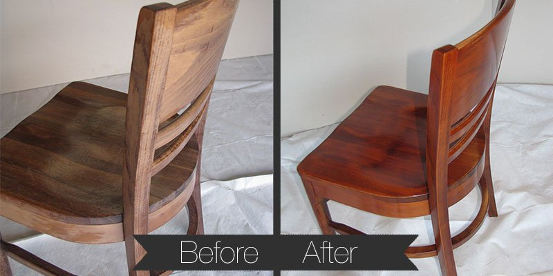 Faded and peeling original finish restored to like-new