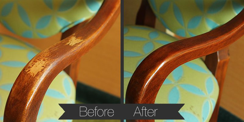 Tacky and peeling finish restored to richer tone with many protective layers of clear